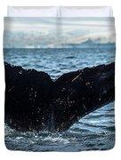 Whale In The Ocean, Southern Ocean Duvet Cover
