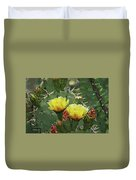Yellow Prickly Pear Flowers Duvet Cover