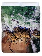 Aerial View Of The Beach, Newport Duvet Cover