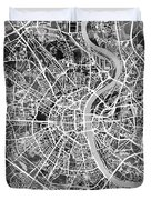 Cologne Germany City Map Duvet Cover