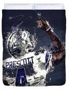 Dallas Cowboys.dak Prescott. Duvet Cover