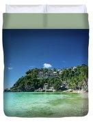 Diniwid Resort Beach View In Tropical Paradise Boracay Island Ph Duvet Cover