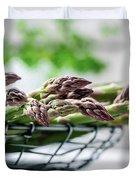 Fresh Green Asparagus Duvet Cover