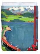 Lake Geneva Duvet Cover