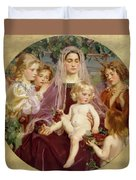 Madonna Of Giverny  Duvet Cover
