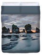 Motukiekie Beach - New Zealand Duvet Cover