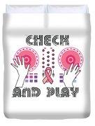 Naughty Breast Cancer Awareness Art For Women Light Duvet Cover