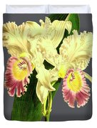 Orchid Old Print Duvet Cover