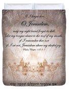 Psalm 137 Duvet Cover