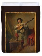 Soldier Playing The Theorbo  Duvet Cover