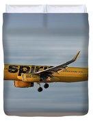 Spirit Airlines Airbus A320-232 Duvet Cover