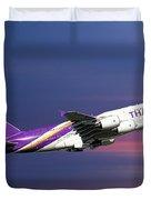 Thai Airways Airbus A380-841 Duvet Cover