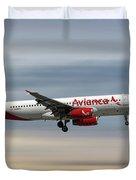 Avianca Airbus A320-233 Duvet Cover