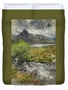 Digital Watercolor Painting Of Stunning Landscape Image Of Count Duvet Cover
