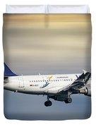 Lufthansa Airbus A319-114 Duvet Cover