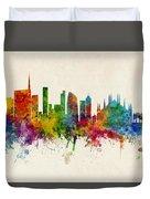 Milan Italy Skyline Duvet Cover