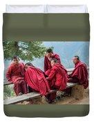 5 Monks On A Break Duvet Cover