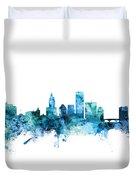 Providence Rhode Island Skyline Duvet Cover