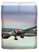 Royal Jordanian Boeing 787-8 Dreamliner Duvet Cover
