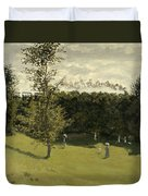 Train In The Countryside  Duvet Cover