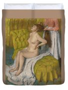 Woman Having Her Hair Combed  Duvet Cover