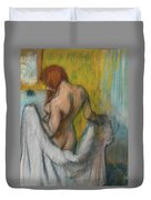 Woman With A Towel  Duvet Cover
