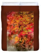 Digital Watercolor Painting Of Beautiful Colorful Vibrant Red An Duvet Cover