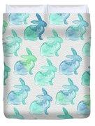 Watercolor Bunnies 1i Duvet Cover