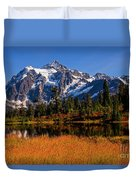 Autumn Colors With Mount Shuksan Duvet Cover