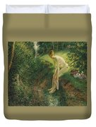 Bather In The Woods  Duvet Cover