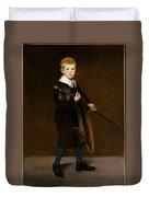 Boy With A Sword  Duvet Cover