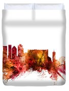 Cape Town South Africa Skyline Duvet Cover