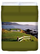 7th Hole At Pebble Beach Golf Links Duvet Cover