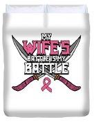 Breast Cancer Awareness Art For Warrior Women Light Dark Duvet Cover