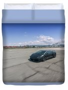 #lamborghini #gallardo Lp570-4 #superleggera #edizione #technica #print Duvet Cover by ItzKirb Photography