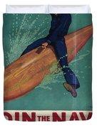 Wartime Propaganda Poster Duvet Cover