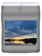 Danvers River Sunset Duvet Cover