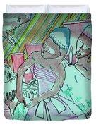 Kintu And Nambi Folktale Duvet Cover