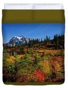 Autumn Colors With Mount Shuksan Duvet Cover