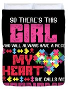 9 So There This Girl Duvet Cover