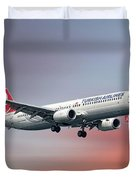 Turkish Airlines Boeing 737-9f2 Duvet Cover