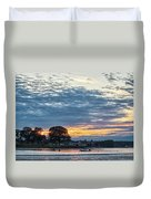 Danvers River Sunset Duvet Cover