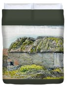 A Barn With A Mossy Roof, Shoreham - Digital Remastered Edition Duvet Cover