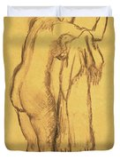 A Bather Drying Herself By E Degas Duvet Cover