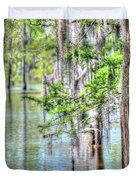 A Beautiful Day In The Bayou Duvet Cover