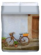 A Bicycle At Number 10 Duvet Cover