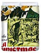 A Christmas Carol Movie Poster 1938 Duvet Cover