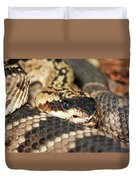 A Close Up Of A Mojave Rattlesnake Duvet Cover