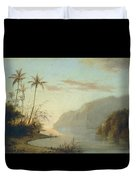 A Creek In St. Thomas Virgin Islands, 1856 Duvet Cover