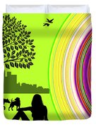 A Day In The Park Duvet Cover